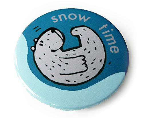 Snow time. Button, Magnet, Flaschenöffner oder Taschenspiegel