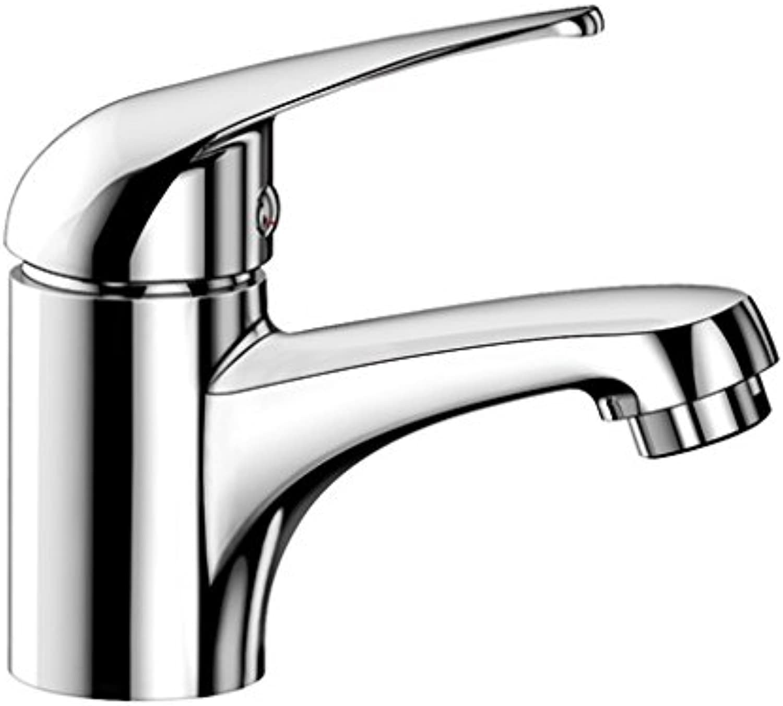 Weiß JADE-WT, Waschtischarmatur, Einhebelmischer für Badezimmer, Armatur für Bad-Waschbecken, Oberflche chrom - mit Ablaufgarnitur