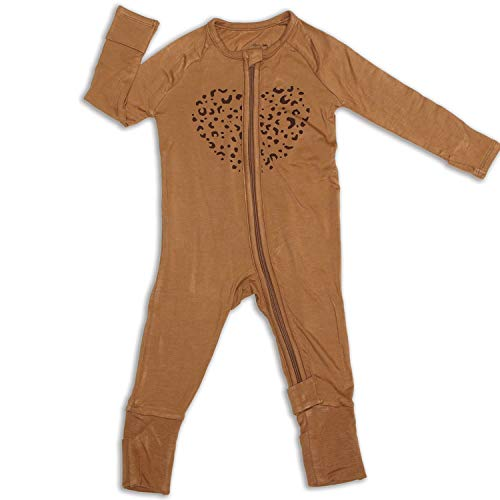 Product Image of the Silkberry Baby Bamboo Romper w/ 2-way Zipper Walnut 18-24m