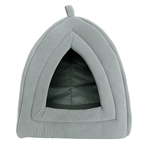 PETMAKER Igloo Pet Bed Collection - Soft Indoor Enclosed Covered Tent/House for Cats, Kittens, and Small Pets with Removable Cushion Pad