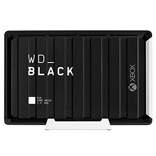 WD_Black D10 for Xbox 12To - Disque dur externe pour Xbox One en 7 200 tr/min avec refroidissement actif pour stocker votre collection de jeux massive