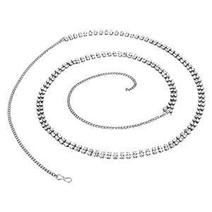 VAMA Fashions Fancy Silver Plated Belly Body Hip Chain Waist Belt for Women