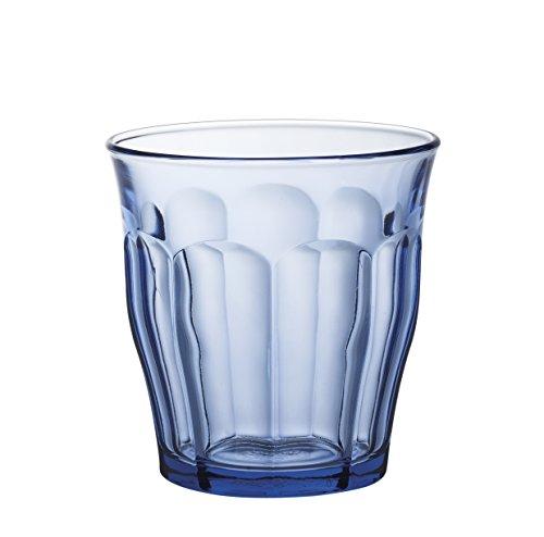 Duralex 1028bc04 Picardie 4 glazen glas marineblauw 9 cm