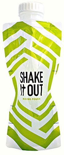 Shake It Out Collapsible Shaker Bottle for Protein Supplements - 12 Ounces (Lime / White)