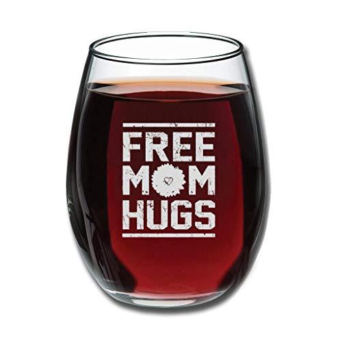 CATNEZA Libbey Stemless Wijnglas - Gratis Moeder Hugs Gegraveerde Wijn Tumbler Idee Voor Kantoor Coworker en Beste Vriend 12 oz