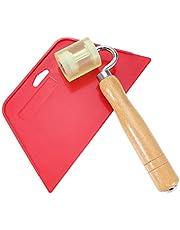 DOITOOL herramienta para alisar papel tapiz con rodillo de costura plana para papel de contacto adhesivo kit de herramientas para papel tapiz de vinilo (1 rodillo y 1 raspador)