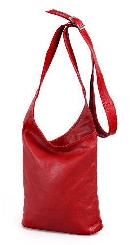 Iio.MIO, schoudertas voor dames, kleur naar keuze, rood/beige/zwart/donkerblauw/grijs/roze/bruin/oranje/groen