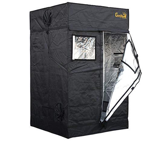 Gorilla Grow Tent Lite Line | Complete 4-Foot by 4-Foot Reflective Hydroponic Grow Tent for Growing Indoor Plants | Steel Interlocking Poles, Windows, Floor Tray