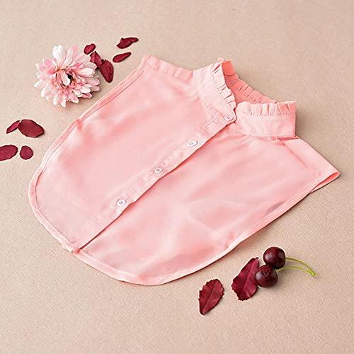 Venta SolShirt Falso Collar Lazos Blanco y Negro y Rojo Blusa Vintage Desmontable Collares Mujeres Hombres Ropa Accesorios-Rosa