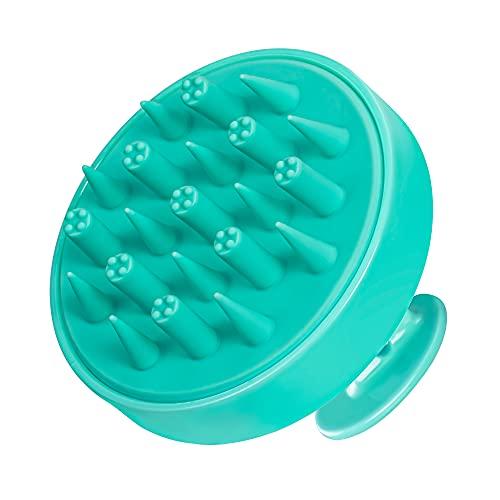 HEETA Kopfhaut-Massagebürste, aktualisierte Haar-Shampoo-Bürste, nasse und trockene Kopfhaut-Peeling mit weichen Silikon-Borsten, Kopf-Massagegerät, Haarpflege-Werkzeug für Frauen, Männer, Kinder für alle Haartypen (grün)