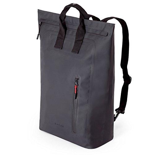 A-LAB • Model C • Wasserdichter Rucksack • Tragetasche und Rucksack aus robuster LKW Plane (16l) mit extra Innentasche für Geldbeutel und Handy • MacBook • Tablet • Chromebook