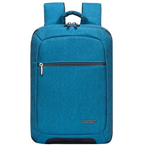 Cocoon SLIM Laptop Rucksack (mit besonderem Organisationssystem, Praktischer Backpack für Laptops, Daypack, Rucksack für Tablet, Laptop, 2 Reißverschlussfächer, 10 Zoll und 15,6 Zoll) blaugrün