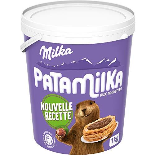 Milka Patamilka - Pâte à Tartiner aux Noisettes et au Cacao - Saveur Noisette - Sans Huile de Palme - Idéal pour des Pâtisseries - 1 kg