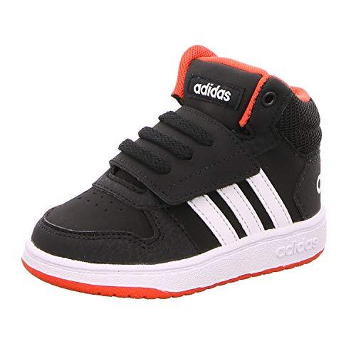 adidas Unisex-Kinder Hoops MID 2.0 I Fitnessschuhe, Schwarz (Negro 000), 24 EU