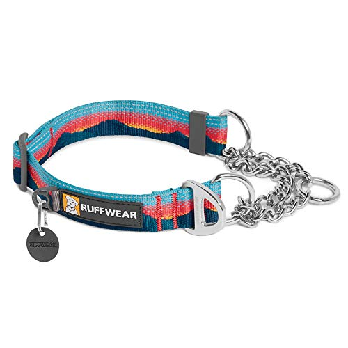 RUFFWEAR, Chain Reaction Dog Collar, Martingale Style for On-Leash Walking, Sunset, 14'-20'
