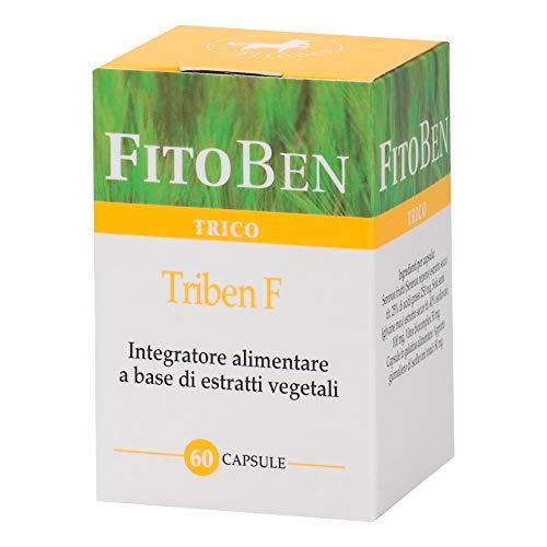 Triben F con Miglio e Serenoa. Integratore Alimentare Naturale, per il Benessere di Unghie e Capelli. Per Donna Matura 60 cps vegetali