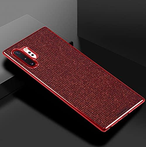 Adecuado para la nota 10 teléfono móvil shell note10+5G cubierta protectora galvanoplastia todo incluido flash polvo anti-caída personalización-rojo_S10