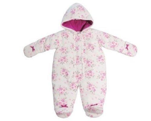 Infants Blanc Combinaison avec imprimé floral et noeuds en velours 3–6 mois par Pitter Patter