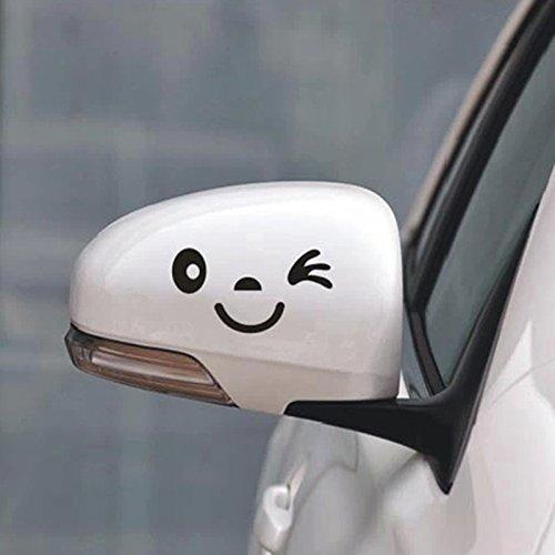 2 Stück Lächeln Gesicht Design 3...