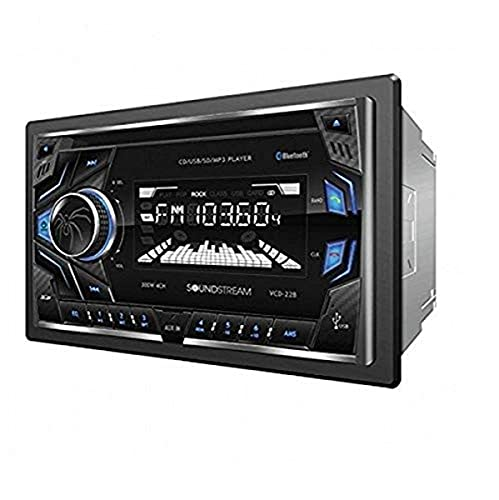Soundstream VCD-22B Double DIN CD/MP3/AM/FM Receiver with 32GB USB...