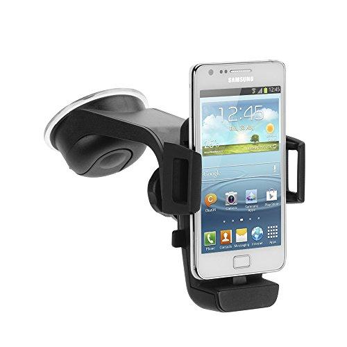 iGRIP T5-30500 Charging Dock - Universal Halterung mit Micro-USB Anschluss - für z. B. Samsung, HTC, Nokia, Sony [5 Jahre Garantie | Made in Germany | 360 Grad drehbar | vibrationsfrei]