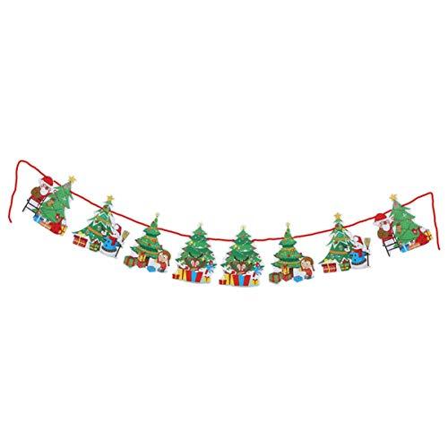 Siamrose Guirnaldas de Navidad colgando banderines Banner Navidad pared ventana puerta decoraciones adornos LTLNB