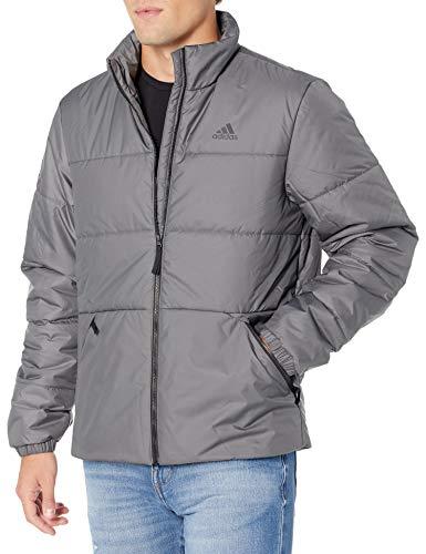 adidas Outdoor mens Basic 3-Stripes Insulated Jacket Grey XX-Large