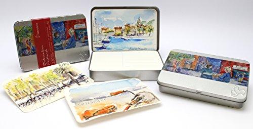 Hahnemühle Postkartenblock Aquarell Metallbox Hahnemühle 230g/m² 10,5x14,8cm