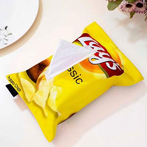 El tejido paño decorativo cubierta de la caja de la servilleta Holder, Potato Chip de papel sostenedor de la caja de la toalla, tejido de almacenamiento de la bolsa de papel sostenedor de la cubierta