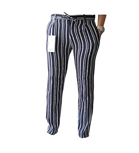 Officina 36 omeo 2662tp Pantalone Rigato con pences (Blu, Uomo 50 IT)