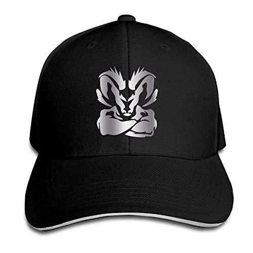KMRR Dodge Ram Logo Platinum Style Flex Baseball Cap Black