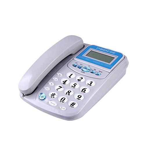 GWF telefoon, vaste pasvorm, thuis, hotel, logeerkamer, opname, audio-telefoon, bekabeld, handsfree, overdracht van oproepen, poort met dubbele wekker, LCD-display (kleur: wit)