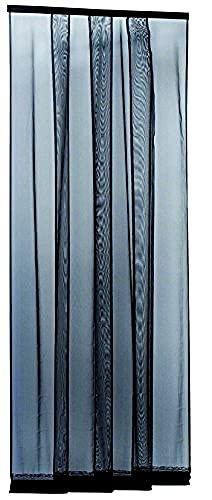 Blinky 74210 Zanzariere a Strisce Eccostri, 4 Bandelle, 100 x 250 cm, Antracite