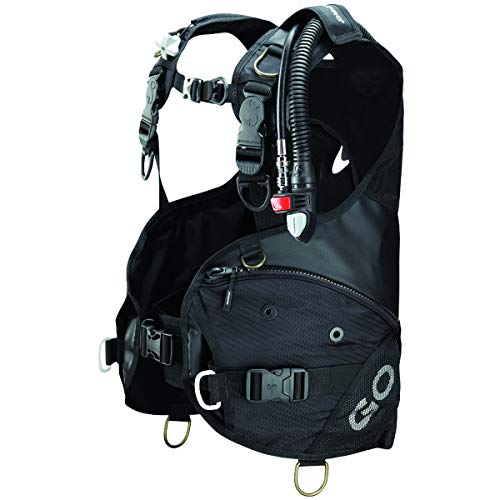 Scubapro Go Diving BCD with Balanced Power Inflator (Black, Medium)