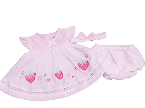 Robe d'été pour bébé Fraise - Blanc - 4-6 ans