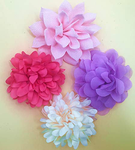 BoomBone Dog Collar Flowers Accessory,Pack of 4 Flower Charms Sliders for Dog Collars