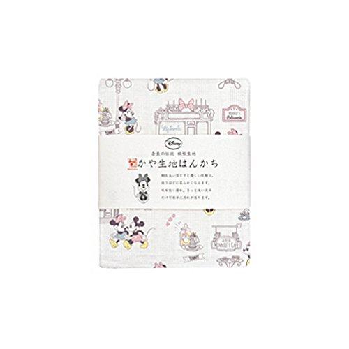 ディズニー 日本製 かや生地 ガーゼ ハンカチ ディズニー 08.ミニーデート【TY-317】