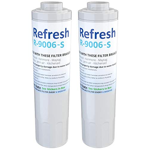 Refresh R-9006-S Replacement for Maytag PUR FILTER 4, Whirlpool EDR4RXD1, Everydrop Filter 4, UKF8001AXX-750, 4396395, PuriClean II, and Kenmore Filters 469006, 9006 Refrigerator Water Filter (2 Pack)