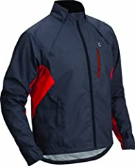 Dwr -treated to repel light precipitation With a quick yank, the magnetized one-piece cape comes off in an instant, morphing into a vest Zippered media chest pocket Reflective accents improve visibility