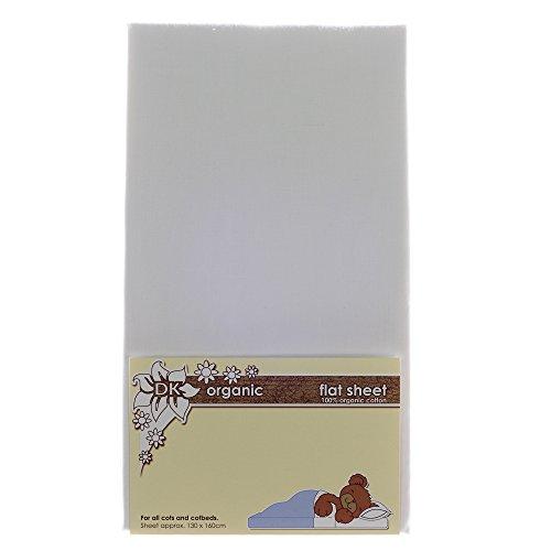 DK handschoenen plat laken voor babybedjes en bedden (organisch wit)