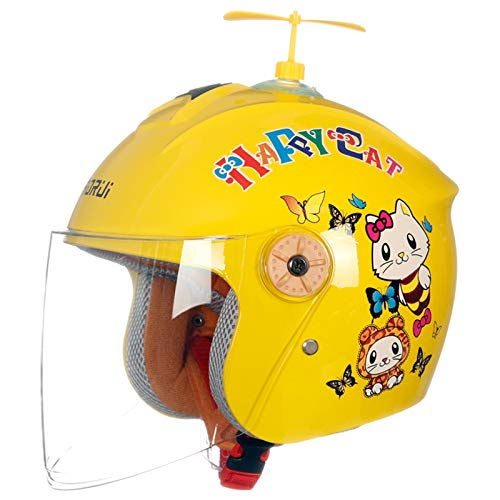 XIYAN Cute Helmet for Unisex Kids Children,Sport Light And Safe Bike Bicycle Helmet Skating Riding Cycling Protective Gear with Clear Lenses,A