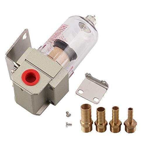 Zunbo Filtro universal de combustible de gasolina, impurezas del filtro del automóvil, herramienta de separación de aceite del motor, tubos de conexión de 6 mm / 8 mm / 10 mm / 12 mm