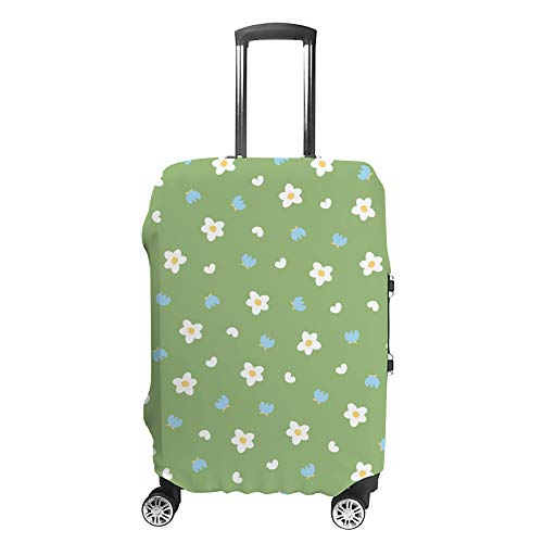 Ruchen - Funda Protectora para Maleta, diseño Floral, Color Verde