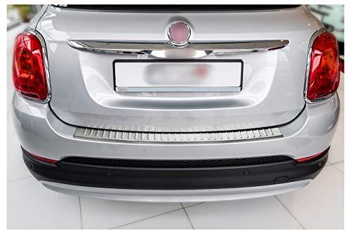 tuning-art L148 Protection de seuil de Coffre pour Fiat 500X 2014-2018 Acier INOX, 5 Ans Garantie