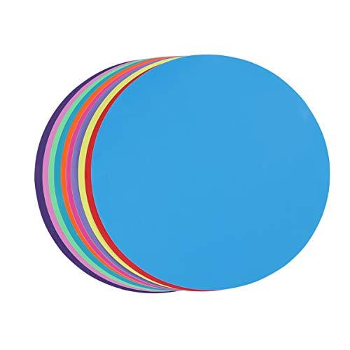 STOBOK 10pcs Pegatinas Círculos de Colores, Dry Erase círculos, Vinilo extraíbles Puntos, Etiqueta de la Pared para mesas de Aula, Paredes, 10 Colores, 28cm