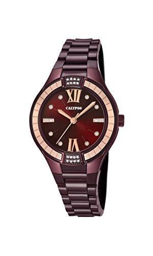 Calypso Reloj Análogo clásico para Mujer de Cuarzo con Correa en Plástico K5720/5