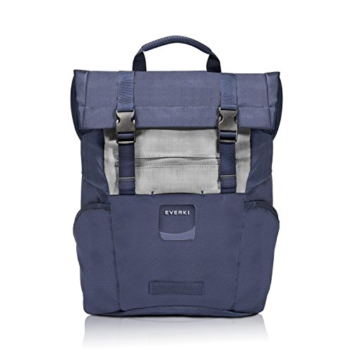 Everki 72588 Roll Top - Laptop Backpack fits up to 15.6-inch – Navy