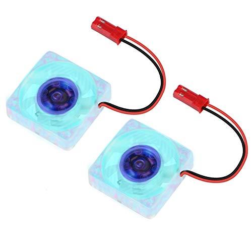 Seamuing Ventilador Raspberry Pi 4 Ventilador LED 5V 30 mm Disipador de Calor para Raspberry Pi 4B / 3B + / 3B / 2B + (2 Piezas)