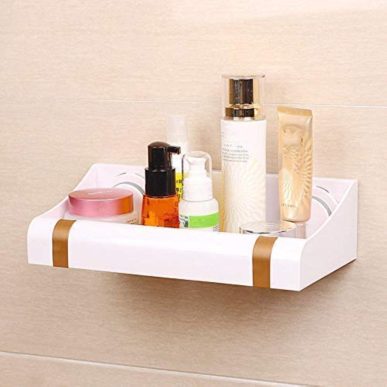 Wghz The Powerful Plastic Sucker Rack Hanging Toilet Bathroom Kitchen Drain Storage Shelf (color   golden)