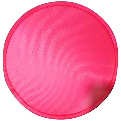 SODIAL Abanico Redondo Plegable- Rojo